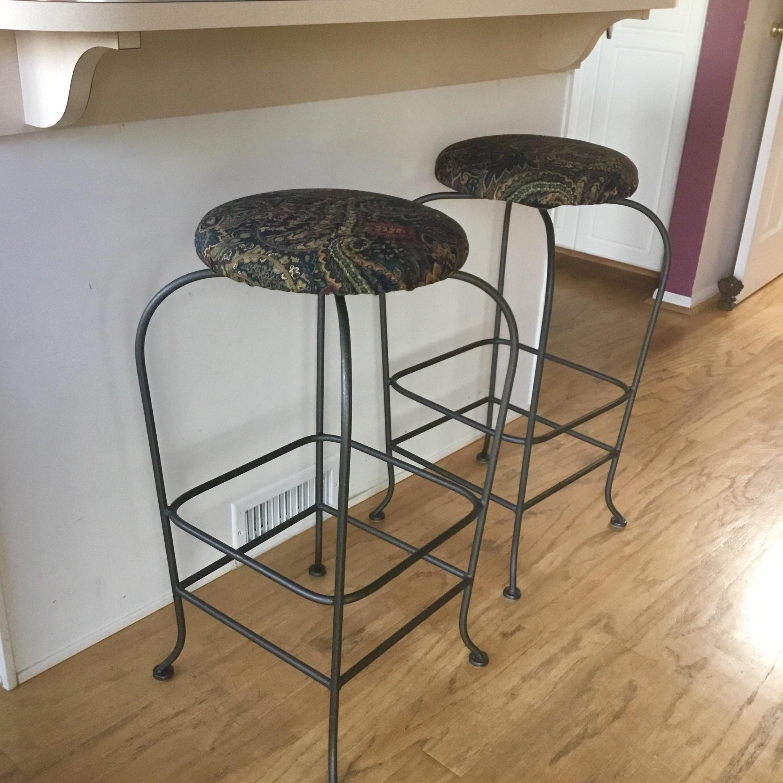Paisley Bar Stools Set Of 3 Chairish