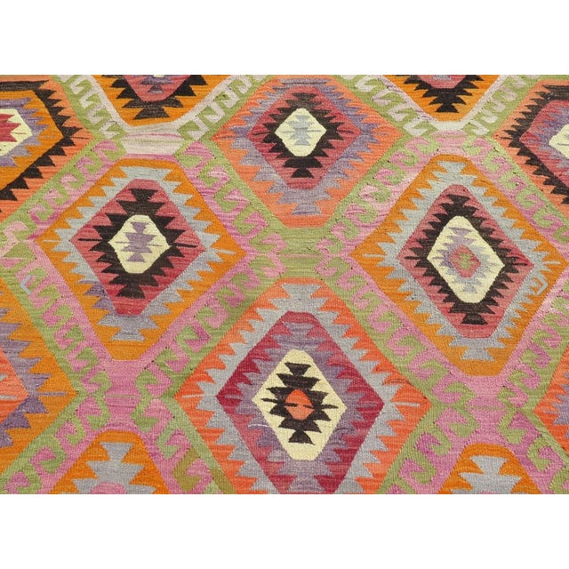 Vintage Turkish Kilim Rug- 5′9″ × 8′5″ - Image 4 of 6