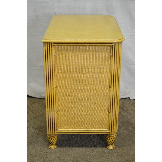 Traditional Rattan Chest Nightstands by David Francis - A Pair For Sale - Image 3 of 10
