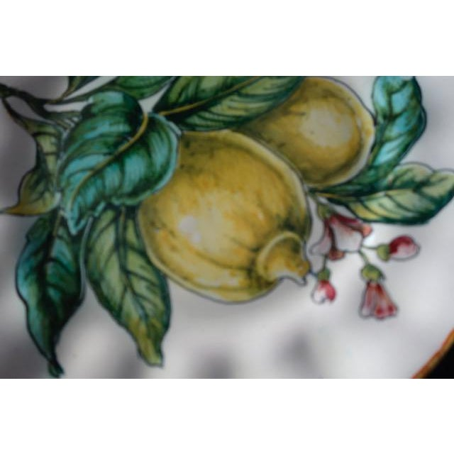 Antique White Vintage Italian Hand Painted Signed Fruit Plates - Set of 4 For Sale - Image 8 of 9