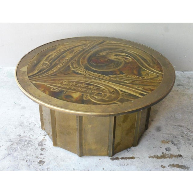 1980's Vintage Mastercraft Bernhard Rohne Musical Note Coffee Table For Sale - Image 9 of 9