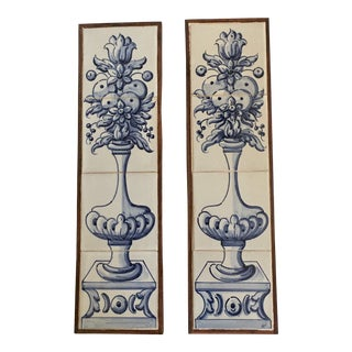 Framed Portuguese Tile Murals - a Pair For Sale