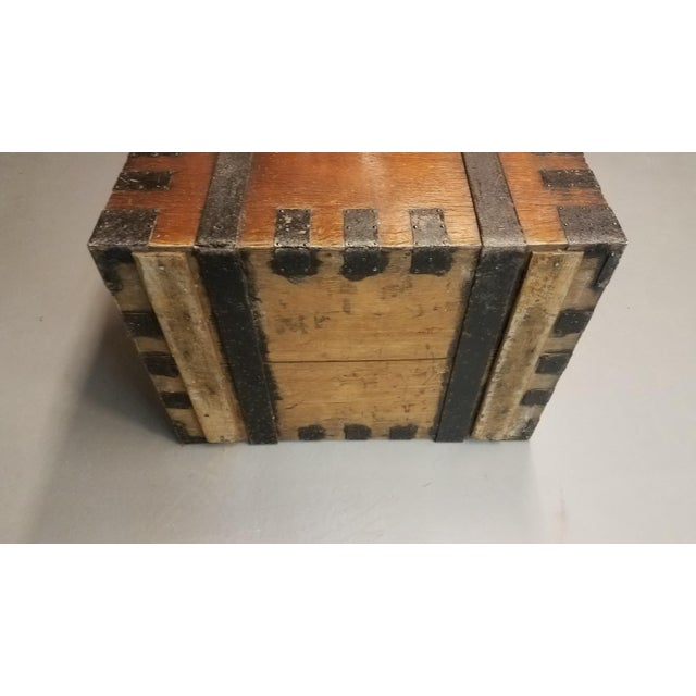 Late 1800s Oak Silver Trunk For Sale - Image 10 of 13