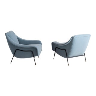 Pair of 1950s Modern Lounge Chairs by Ezio Minotti For Sale