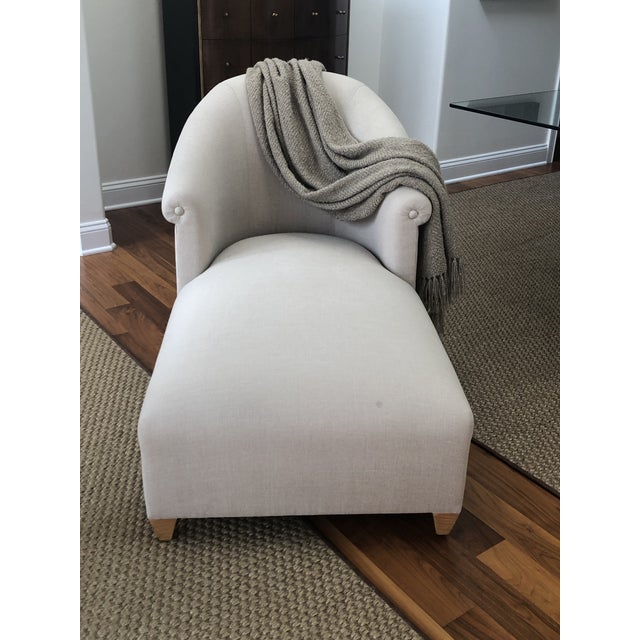 Donghia Plato Chaise in Flax Linen Donghia is synonymous with fine American & Italian design and this subtly glamorous...