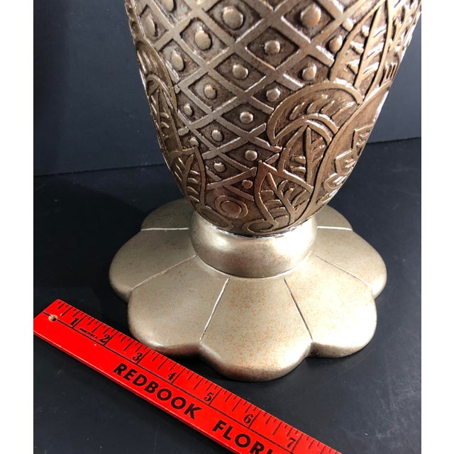 Metal Contemporary Mediterranean Uttermost Grecian Urn / Vase With Handles For Sale - Image 7 of 11