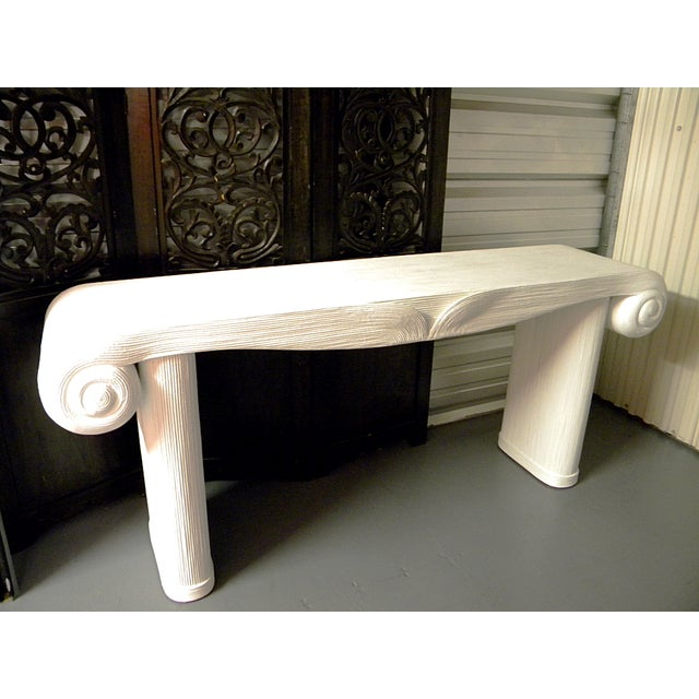Neoclassical Vintage Large Neoclassical Console Table For Sale - Image 3 of 11