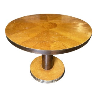 1930s Art Deco Round Two-Tone Coffee Table For Sale