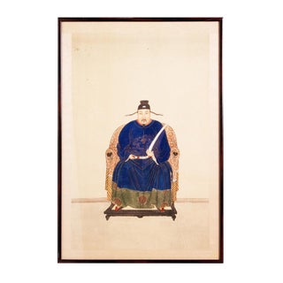 Mid 19th Century Chinese Ancestor Portrait Painting For Sale