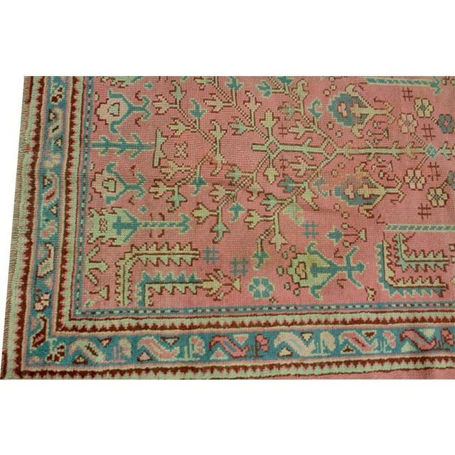 Antique Decorative Turkish Oushak Rug - 4' x 6' - Image 4 of 4