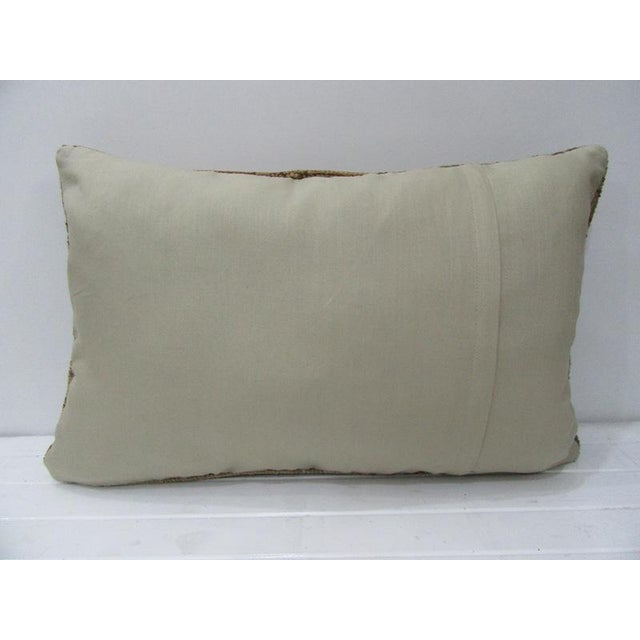 Contemporary Vintage Turkish Tan & Brown Handmade Pillow - 24ʺW × 16ʺH For Sale - Image 3 of 4