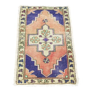 1970s Vintage Home Entrance Doormat Rug- 1′7″ × 2′9″ For Sale