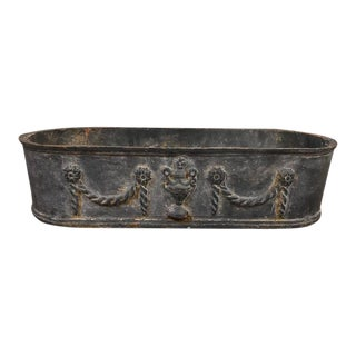 1930s Vintage Cast Iron Planter For Sale