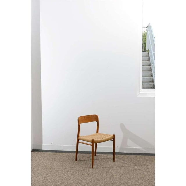 Stellar Original Set of Eight Moller #75 Chairs in Teak For Sale In Atlanta - Image 6 of 10