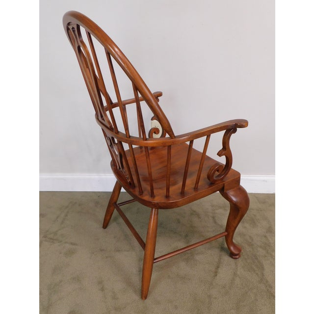 Bob Timberlake Lexington Furniture Set 4 Cherry Windsor Dining Chairs For Sale - Image 12 of 13