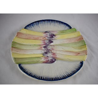 Pexonne French Faïence Majolica Hand-Painted Asparagus Plate Preview