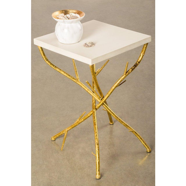 67632e7b8e4c Contemporary Maggy Branch Side Table With Gold Legs For Sale - Image 3 of 4