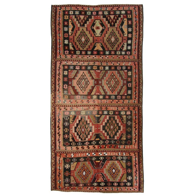 "Turkish Adana Flatweave Kilim Rug - 6'1"" x 12'6"" - Image 1 of 6"
