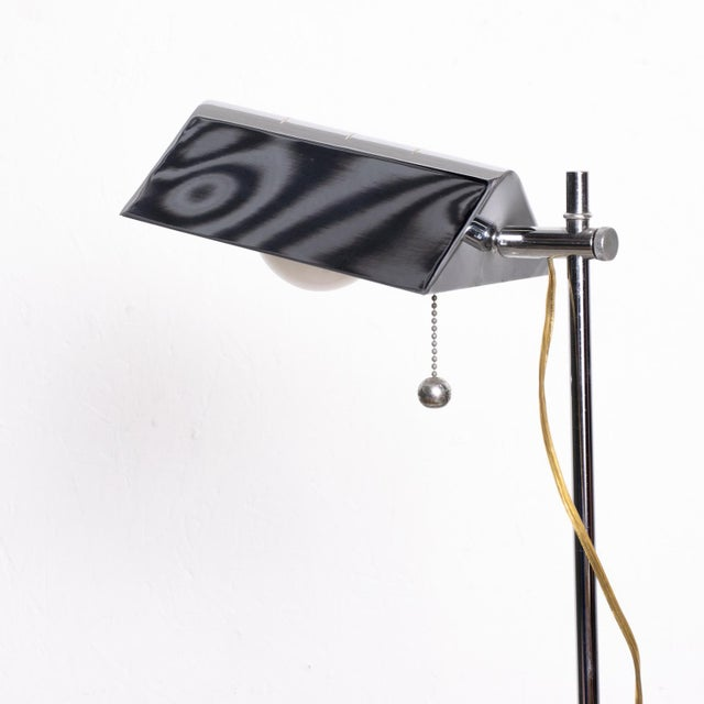 Koch & Lowy Mid-Century Modern Chrome Reading Floor Lamp After Koch Lowy For Sale - Image 4 of 10