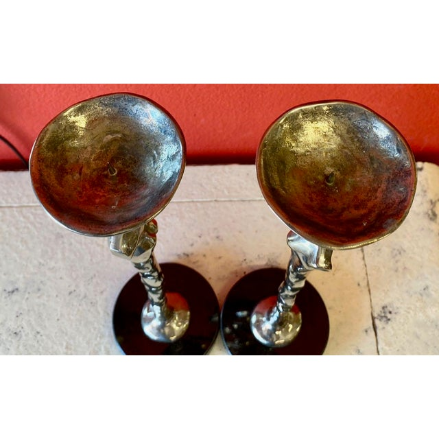 "1980s Michael Aram ""Adam and Eve"" Candlesticks - a Pair For Sale - Image 5 of 7"