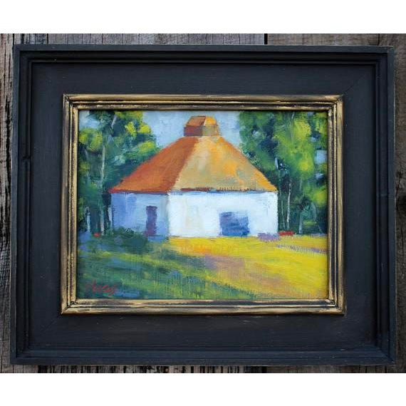 HARMONY - Plein Air - Original Oil Painting 9 x 12 on canvas panel. Unframed. NOTE: Handmade Frame shown; Cottage...