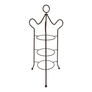 Wrought Iron Cake or Plate Stand For Sale
