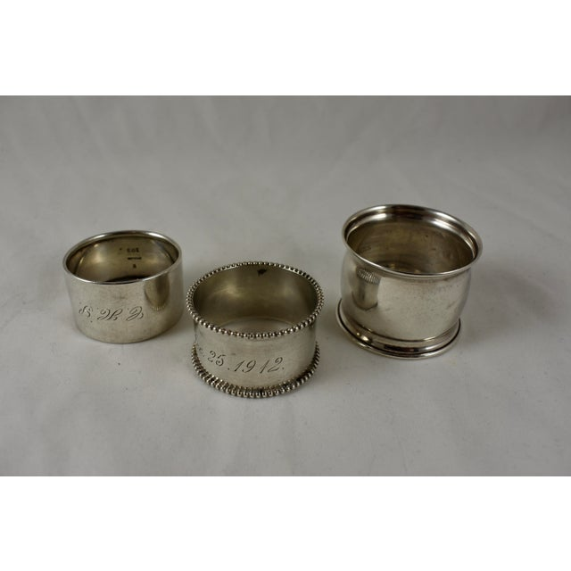 Late 19th Century Antique Sterling Silver Napkin Rings, a Mixed S/8 For Sale - Image 5 of 9