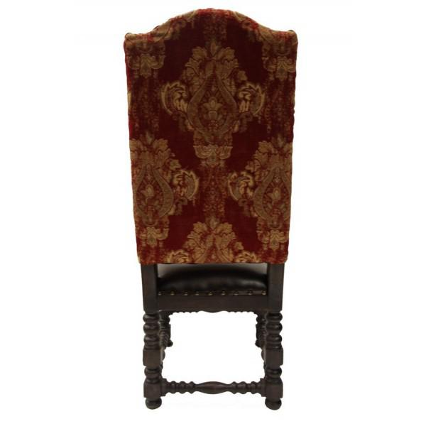 Louis XV 21st Century Vintage French Traditional Red Dining Chair For Sale - Image 3 of 4