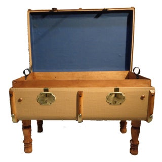 European Outer Rib Coffee Table Trunk For Sale