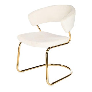 Modern Brandie Steel Side Chair For Sale