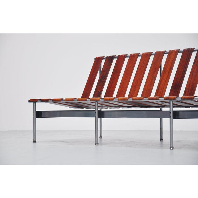 Highly rare modernist sofa Model 416/3 designed by Japanese designer Kho Liang Ie for Artifort, Holland 1959. This sofa...