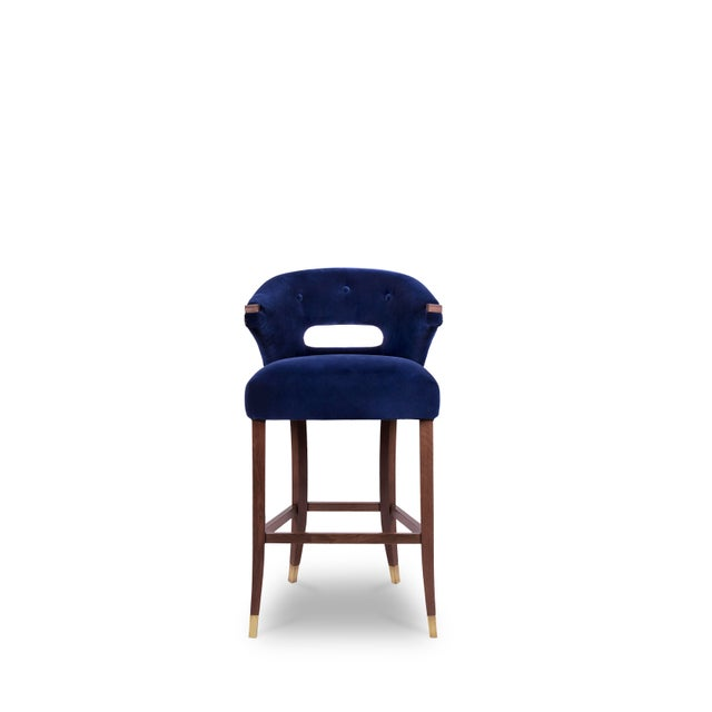 Wood Nanook Bar Chair From Covet Paris For Sale - Image 7 of 7