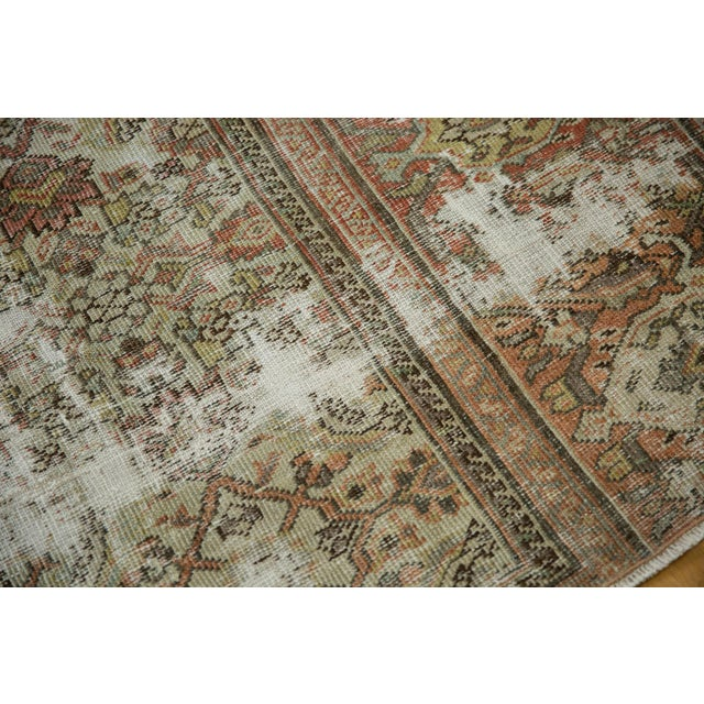 """Vintage Distressed Fragment Mahal Carpet - 7'2"""" X 9'6"""" For Sale In New York - Image 6 of 12"""