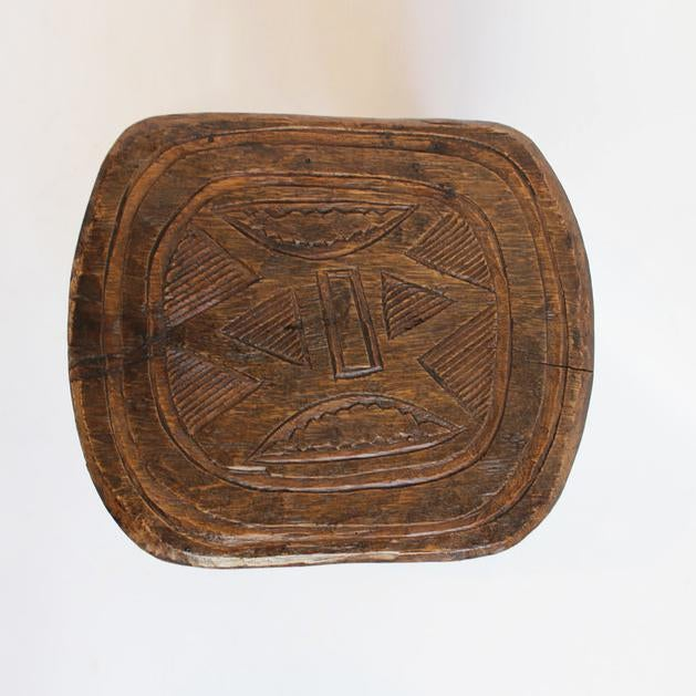 Offered is a vintage Uroba carved tribal stool. Hand waxed finish with beautiful patina.