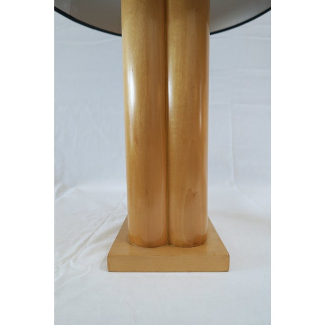 Traditional Vintage Wood Column Table Lamps - A Pair For Sale - Image 3 of 7