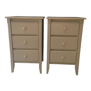 White Cottage Style Bedside Tables - A Pair