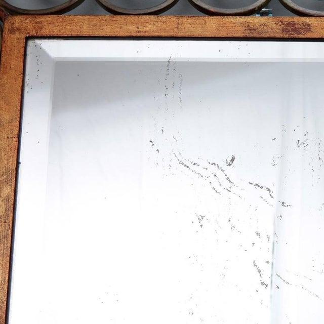 Art Deco Gilt Iron Framed Rectangular Mirror For Sale In Detroit - Image 6 of 7