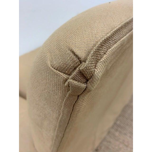 Khaki Nancy Corzine Sofa W/ Bench Cushion For Sale - Image 8 of 10