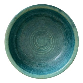 """Mid-Century 10"""" Art Pottery Bowl-Signed For Sale"""
