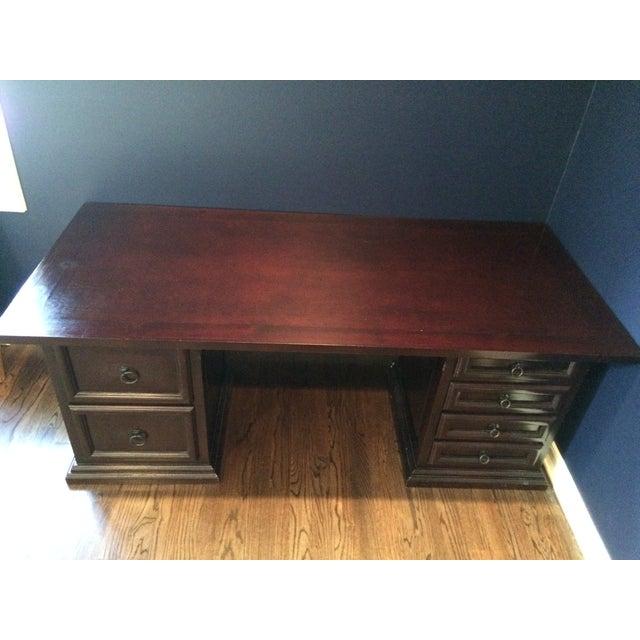 Pampa Furniture Traditional Dark Wood Desk - Image 4 of 5