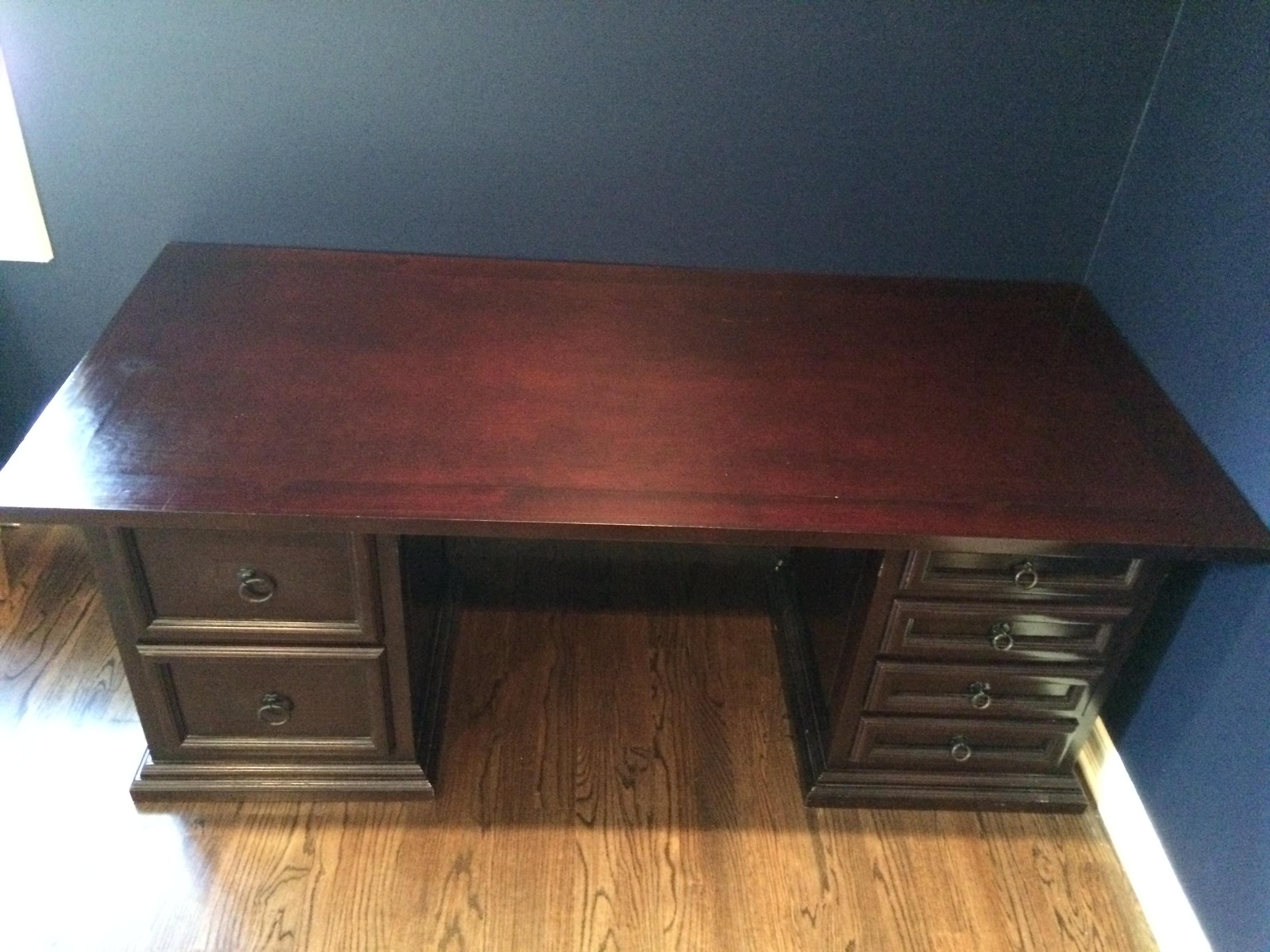 Pampa Furniture Traditional Dark Wood Desk Chairish
