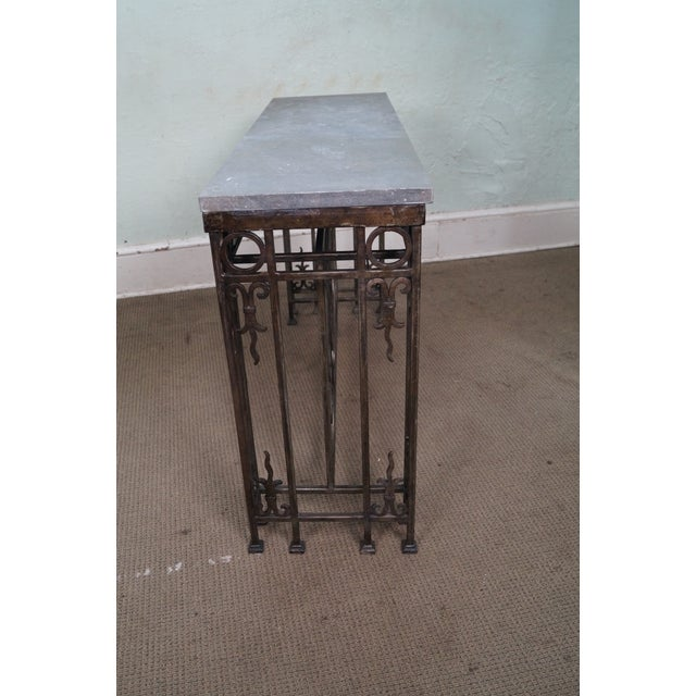 Iron Gothic Style Slate Top Console Table - Image 3 of 10