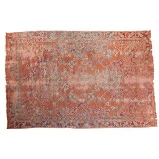 Distressed Oushak Carpet - 5′4″ × 8′ For Sale