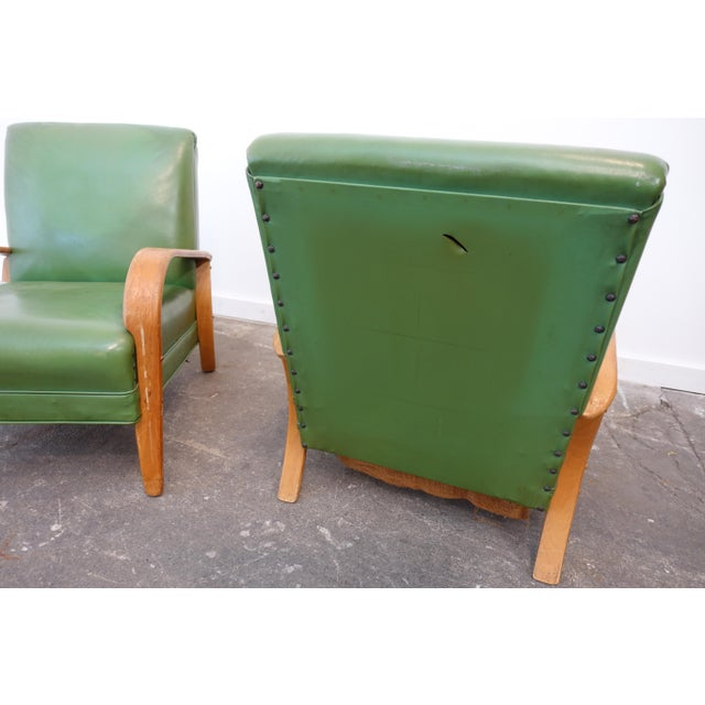 Mid-Century Modern Bentwood Club Chairs - a Pair For Sale In Cleveland - Image 6 of 9