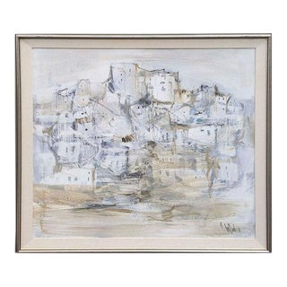 """""""Pueblo"""" Gino Hollander Abstract Painting For Sale"""