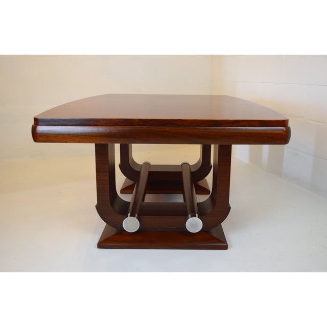 Fabulous Gaston Poisson Art Deco Dining Room Table in Mahogany, 1930. For Sale - Image 11 of 11