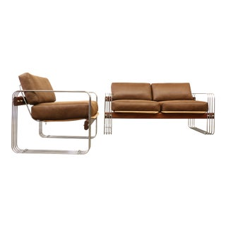 Heinz Meier for Landes Loveseat & Lounge Chair - A Pair