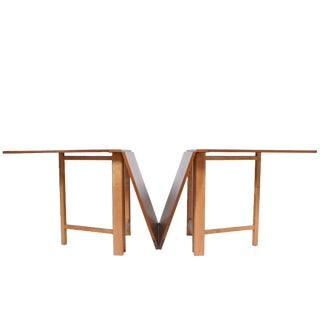 Signed 1950s Bruno Mathsson 'Maria' Expandable Dining Table for Karl Mathsson For Sale