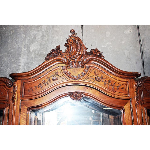 19th Century French Provincial 3-Door Armoire For Sale - Image 4 of 11