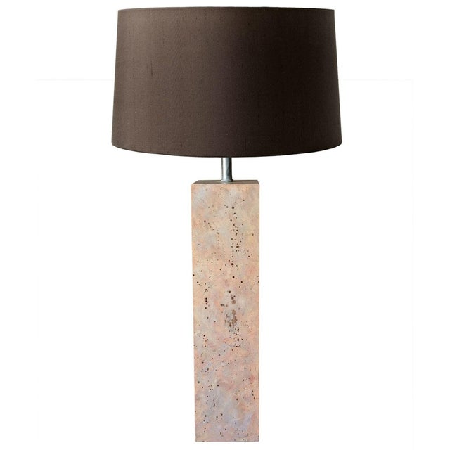 Modernist Stone Composite Lamp - Image 1 of 5